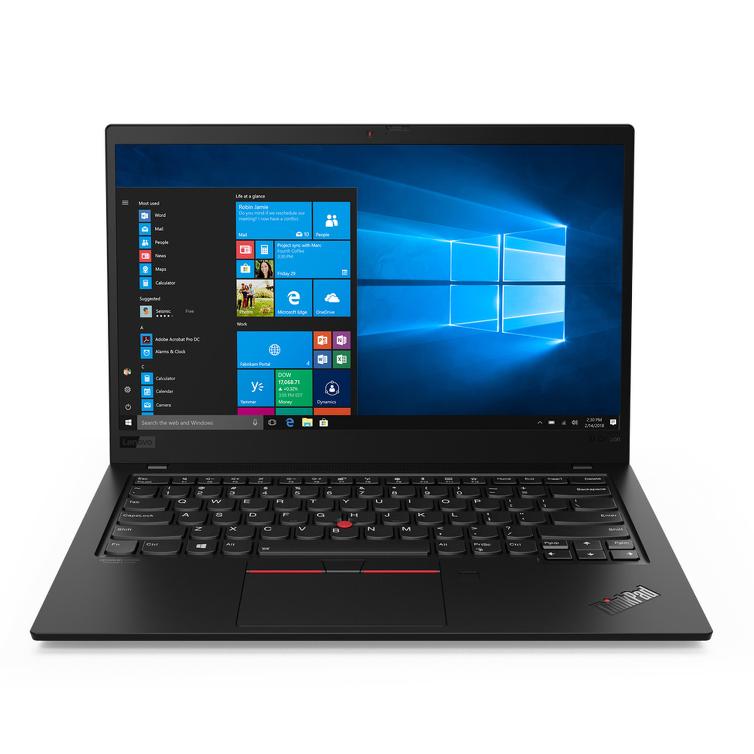 LENOVO THINKPAD X1 CARBON GEN 5 Core i7-7600U/ RAM 16GB/ SSD 256GB / Intel HD Graphics 620/  14 inch
