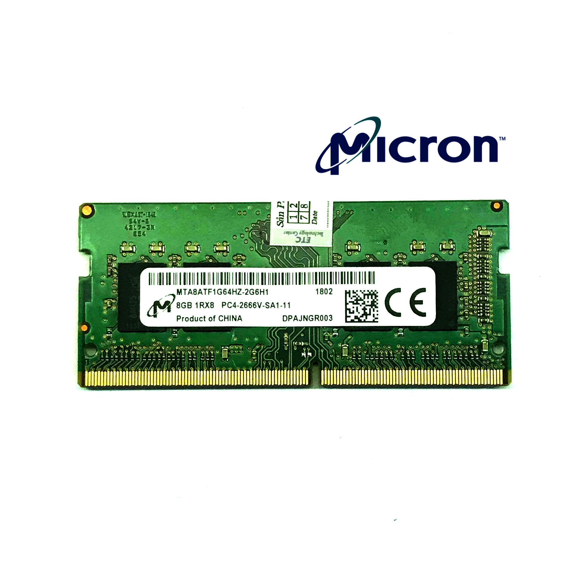 Ram Laptop Micron DDR4 8GB Bus 2666